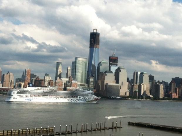 Ship and skyline