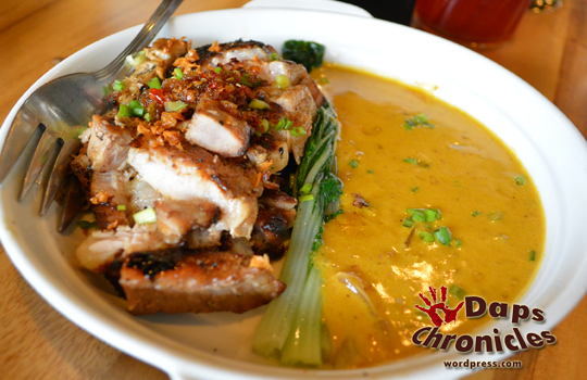 Twice-Cooked Pork Belly. With Ginamos Gata and Chili Garlic Sauce (P240)
