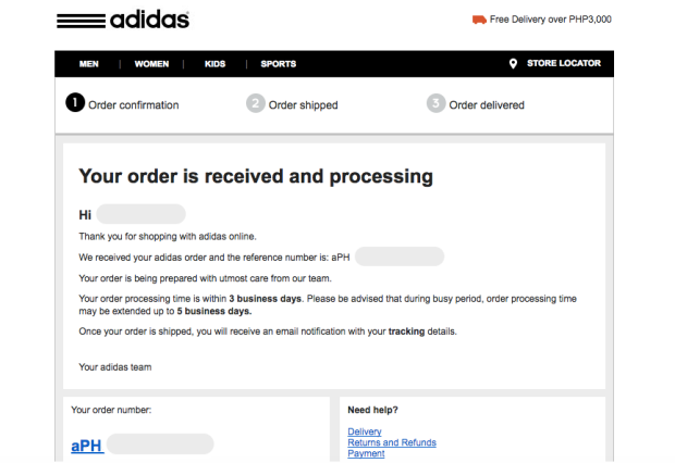 popular stores online for sale preview of Online shopping at Adidas Philippines | Daps Chronicles